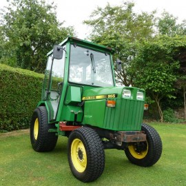 1992 John Deere 955 Compact Tractor With Full Mauser Cab