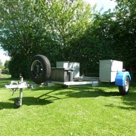 OxyJet 50 small unbraked general purpose use trailer