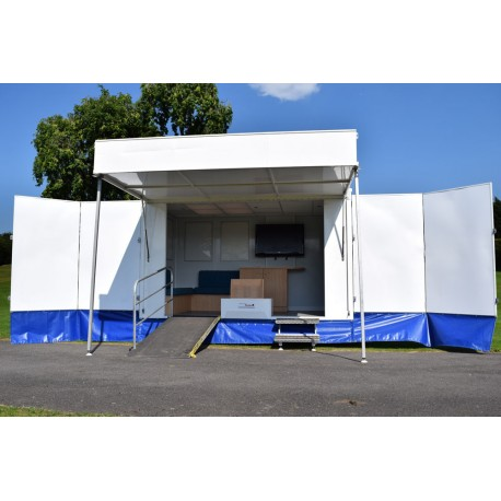 Torton A4 Display Exhibition Trailer With Generator, TV & Games Console