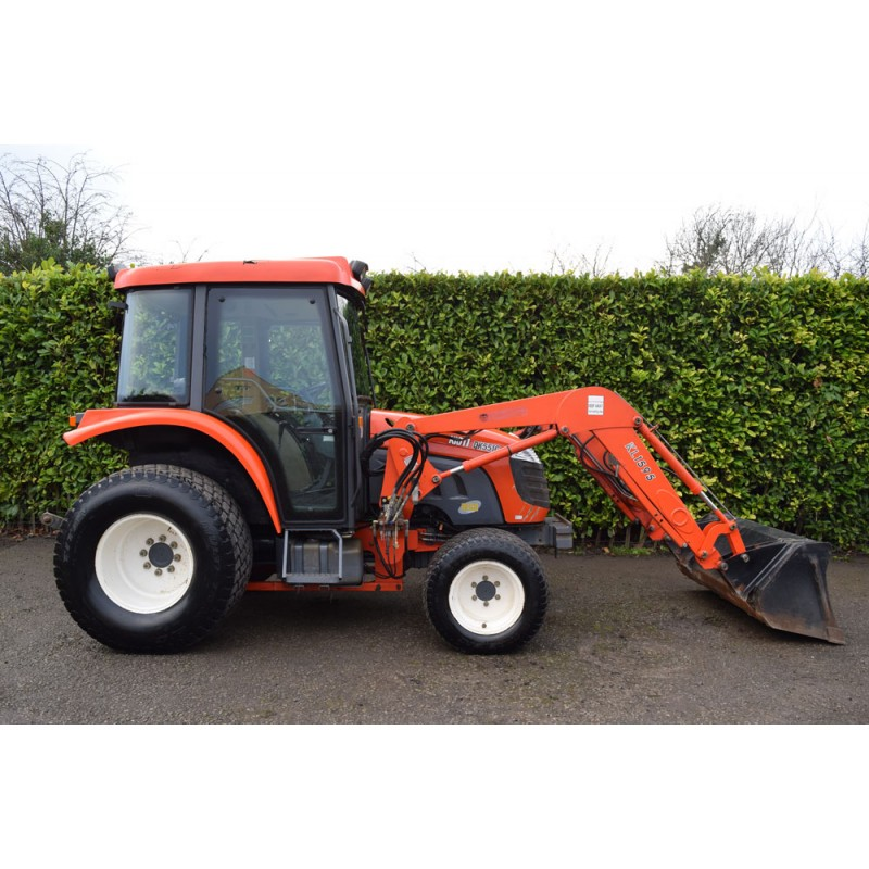 Sold Used Kioti DK551C Compact Tractor With KL1595 Loader