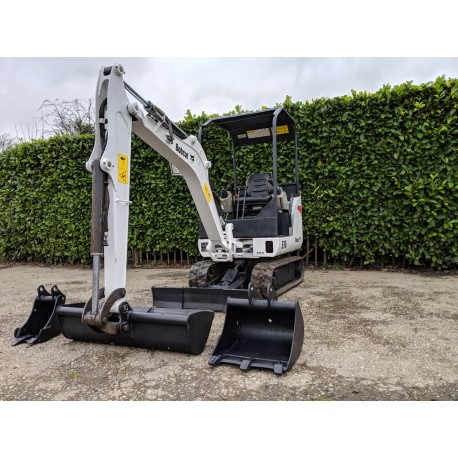 2012 Bobcat E16 1.6 tonne Mini Digger With 3 Buckets