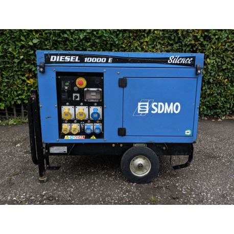 SDMO 10000E Silent Diesel Generator with Wheel Kit