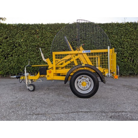 2019 SEB International CD15 Cable Drum Caged Single Axle Trailer