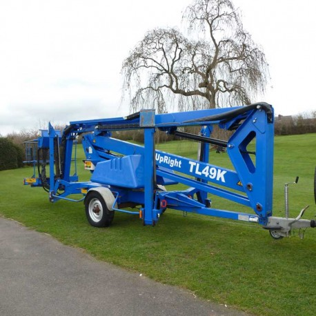 2007 Upright TL49K Trailer Mounted 17 Meter Access Lift