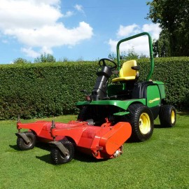 "2009 John Deere 1545 Series II With 60"" Out Front Flail Mower"